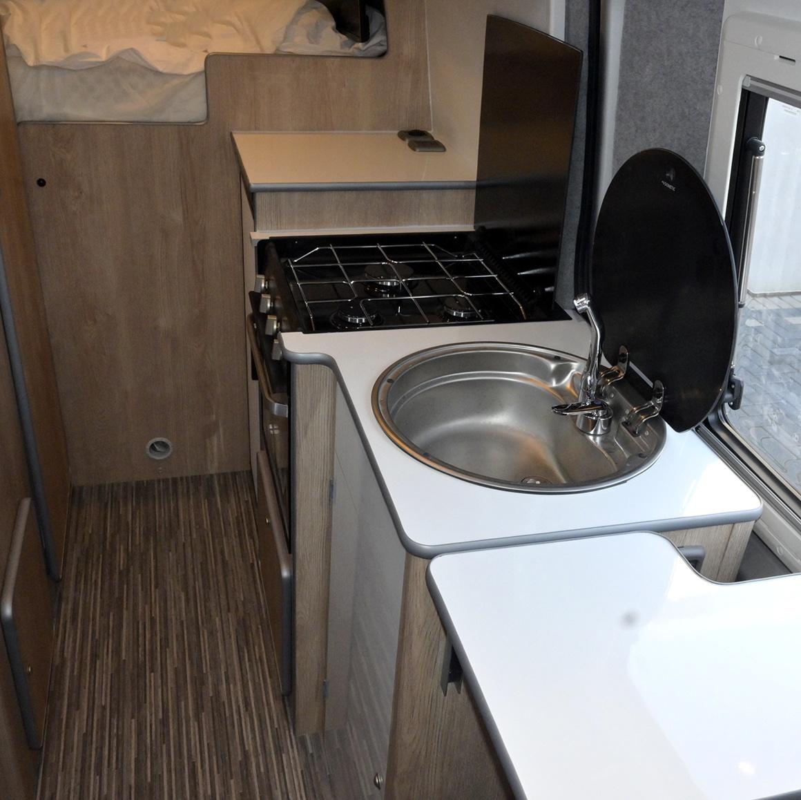 Mercedes Adventure Edition inside kitchen