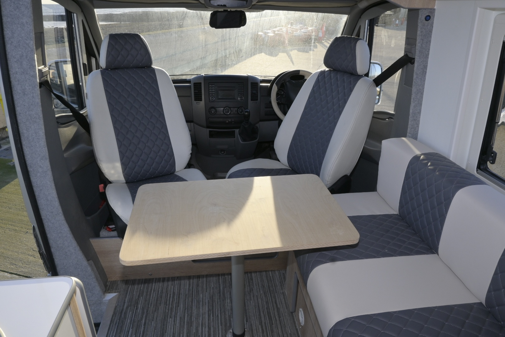 Luxury interior of a Mercedes Adventure Edition