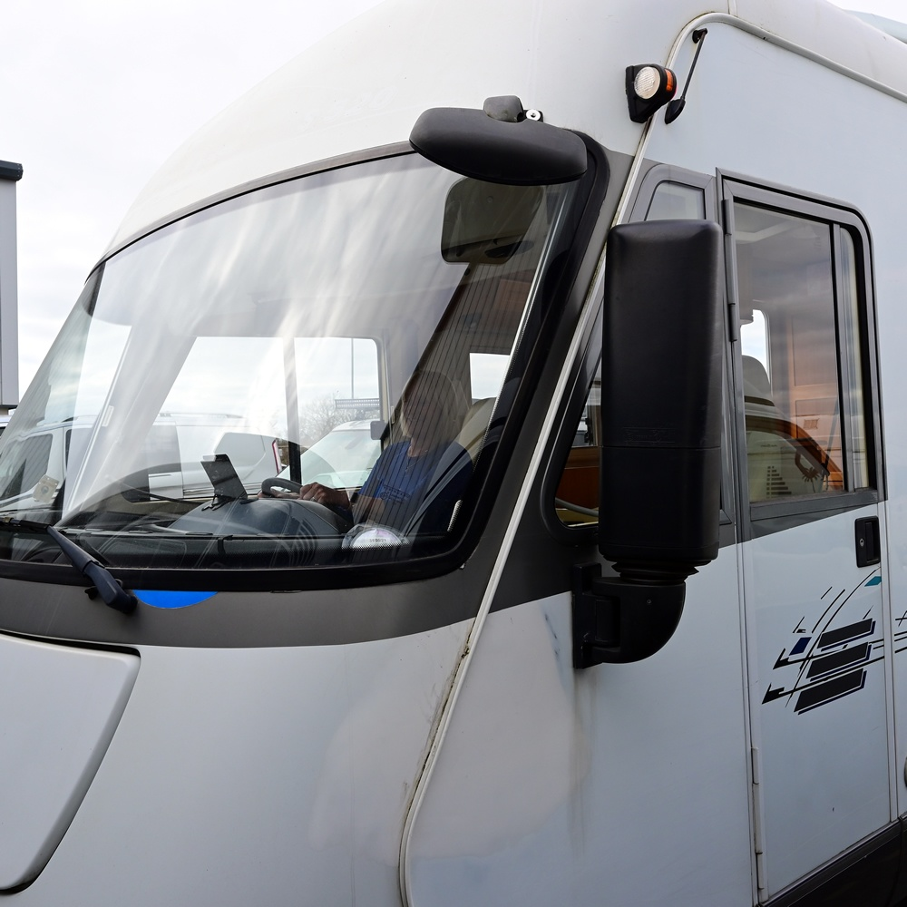 Hymer campervan front view