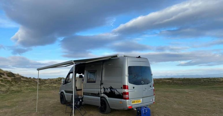 Motorhome in action on the isle of man